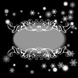 Beståndsdelar för designhälsningkort med snöflingor vektor illustrationer