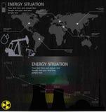 Beståndsdelar för energibransch Arkivbild
