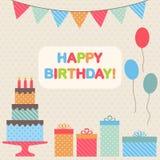 Beståndsdelar för födelsedagparti Arkivbild