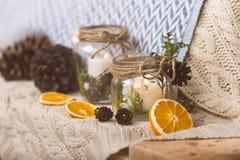Beståndsdelar för garnering för tappningjulinre Royaltyfria Bilder