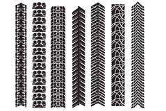 Beståndsdelar för gummihjulspårvektor Arkivbild