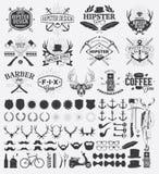 Beståndsdelar för Hipsterstildesign vektor illustrationer