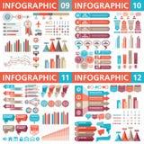 Beståndsdelar för Infographic affärsdesign - vektorillustration Infograph mallsamling Idérik diagramuppsättning stock illustrationer