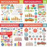 Beståndsdelar för Infographic affärsdesign - vektorillustration Infograph mallsamling Idérik diagramuppsättning Royaltyfri Fotografi