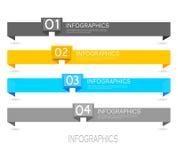 Beståndsdelar för Infographic banerdesign Arkivfoto