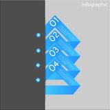 Beståndsdelar för Infographic banerdesign Stock Illustrationer