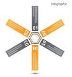 Beståndsdelar för Infographic banerdesign Arkivfoton