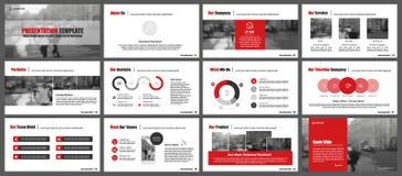 Beståndsdelar för infographics- och presentationsmallar Royaltyfri Bild