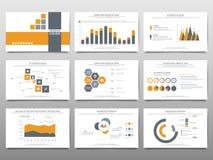 Beståndsdelar för infographics på en vit bakgrund Presentationste Arkivfoto