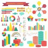 Beståndsdelar för informationsdiagramvektor. Royaltyfri Fotografi