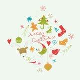 Beståndsdelar för jul och nytt års Arkivbilder