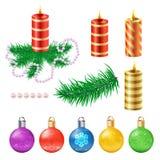 Beståndsdelar för julvektordesign Royaltyfri Foto