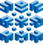 Abstrakt beståndsdelar för konstruktionsaffär Arkivfoton