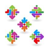 Beståndsdelar för logodesignabstrakt begrepp vektor illustrationer
