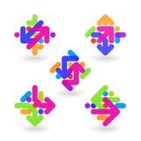 Beståndsdelar för logodesignabstrakt begrepp stock illustrationer