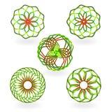 Beståndsdelar för logodesignabstrakt begrepp Arkivfoton