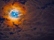 Beståndsdelar för måne för himmel för natthimmel Royaltyfria Bilder
