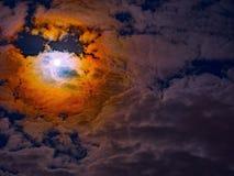 Beståndsdelar för måne för himmel för natthimmel Fotografering för Bildbyråer