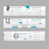 Beståndsdelar för navigering för meny för rengöringsdukdesign: Bildglidare Arkivfoton