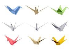 Beståndsdelar för origamitriangelstil. Vektor Royaltyfri Bild