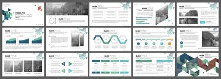 Beståndsdelar för presentationsmallar Fotografering för Bildbyråer