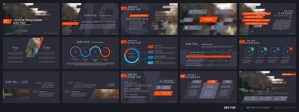 Beståndsdelar för presentationsmallar Arkivfoton