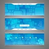 Beståndsdelar för rengöringsdukdesign - titelraddesigner med fyrkantmodellen royaltyfri illustrationer