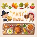 Beståndsdelar för tacksägelsedagkort