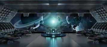 Beståndsdelar för tolkning 3D för rymdskepp för landningremsa inre av denna I Fotografering för Bildbyråer