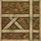 Beståndsdelar för träramchaletkonstruktion Fotografering för Bildbyråer