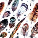 Beståndsdelar för vattenfärgBoho chic design stock illustrationer