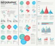 Beståndsdelar för vektor för Infographic rengöringsdukdesign Royaltyfri Foto