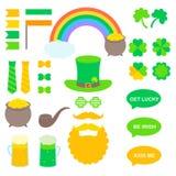 Beståndsdelar för vektor för St Patrick ` s Fotografering för Bildbyråer