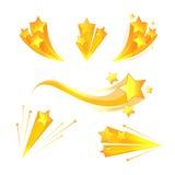 Beståndsdelar för vektor för tecknad filmstjärnabristning vektor illustrationer