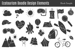 Beståndsdelar för vektorecotourismdesign Royaltyfri Fotografi