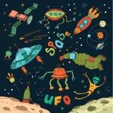 Beståndsdelar för yttre rymddesign Royaltyfri Bild