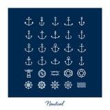 Beståndsdelar och symboler för Hipsterstilinfographics Royaltyfri Bild