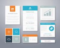 Beståndsdelar ve för Infographic plana finansiella affärsui Arkivfoton