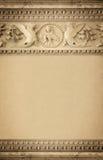 Beståndsdelarna av garneringen, bakgrund av gammalt gjuta för stuckatur arkivbild