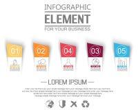 Beståndsdelen för infographic mallstikers numrerar alternativ för rengöringsduk Arkivfoton
