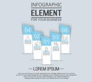 Beståndsdelen för infographic mallstikers numrerar alternativ för rengöringsduk Royaltyfri Foto