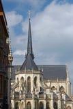 Beståndsdelyttersida av den gamla catholockyrkan i Leuven _ flanders Royaltyfri Bild