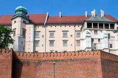 Beståndsdelyttersida av den Wawel slotten Fotografering för Bildbyråer