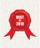Best of 2010. Red ribbon Royalty Free Stock Images