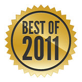 Best of 2011 Sticker. A gold sticker promoting the best of 2011 Stock Photography