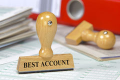 Best account. Rubber stamp in office marked with best account Royalty Free Stock Image