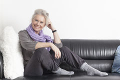 Best age woman relaxing Stock Images