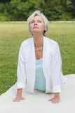 Best ager women practising yoga ant tai chi Royalty Free Stock Photos