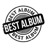 Best Album rubber stamp. Grunge design with dust scratches. Effects can be easily removed for a clean, crisp look. Color is easily changed Stock Image