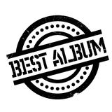 Best Album rubber stamp. Grunge design with dust scratches. Effects can be easily removed for a clean, crisp look. Color is easily changed Royalty Free Stock Image